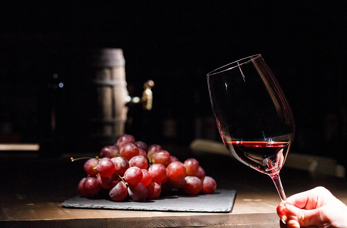 Verre de vin bio.