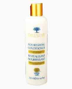 Flacon d'après-shampoing pour les cheveux.