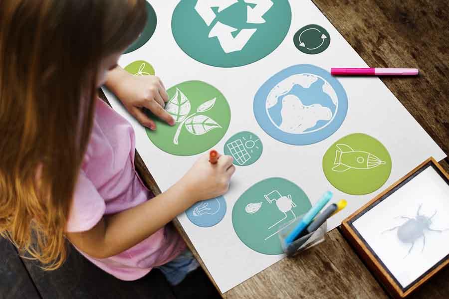 Différents logos écologiques.