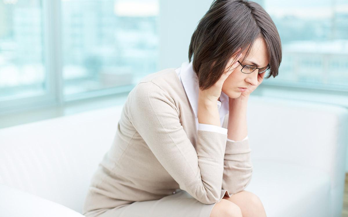 Femme ateinte de la maladie de coeliaque dû au gluten.