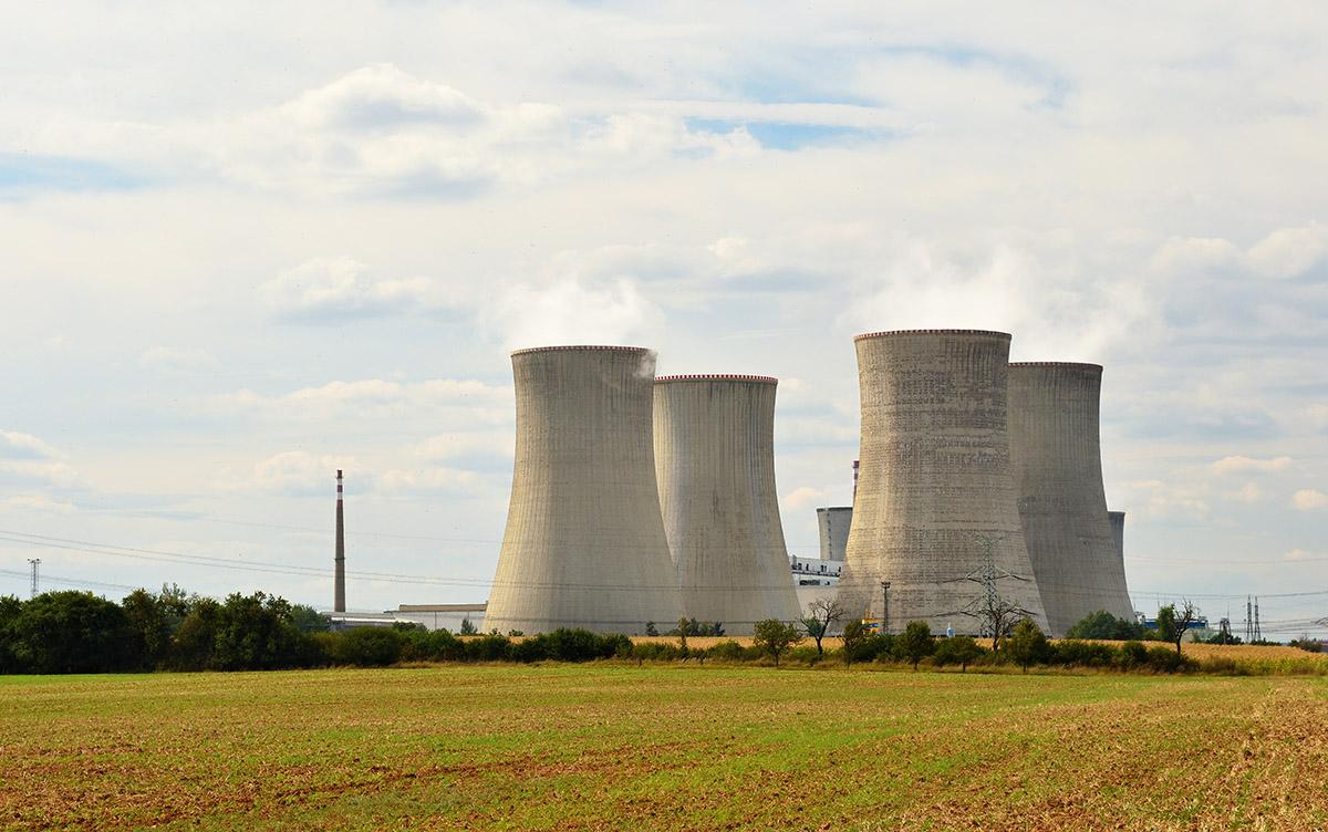 Centrale nucléaire en activité.