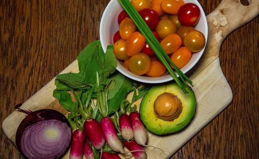 légumes pour la composition de cette recette vegan.