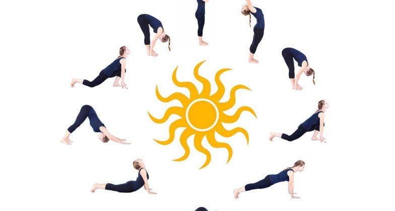 Toutes les postures de la Salutation au Soleil.