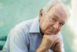 Portrait d'une personnes âgée.
