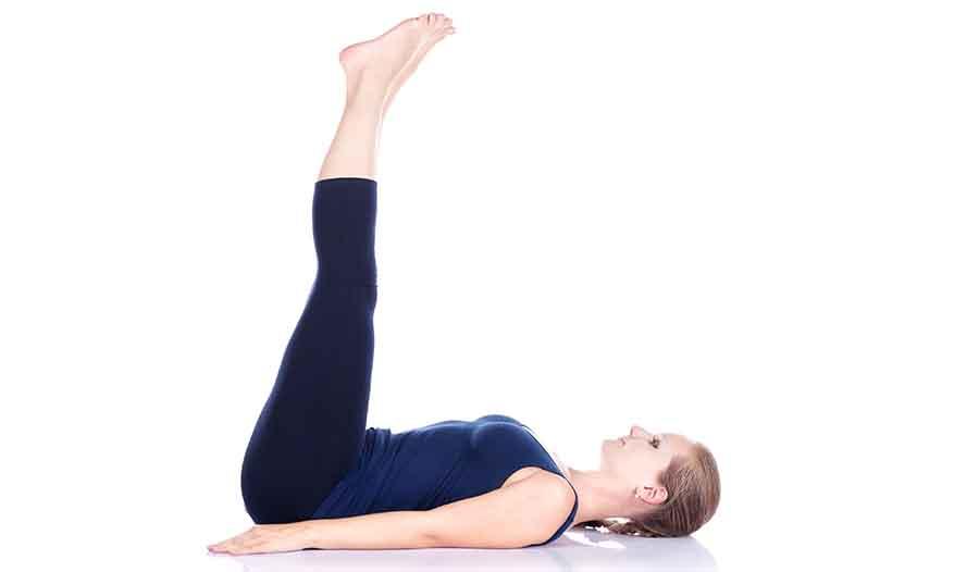 Yoga Posture des jambes levées.